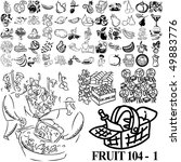 fruit set of black sketch. part ... | Shutterstock .eps vector #49883776