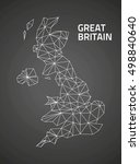 great britain outline black... | Shutterstock . vector #498840640