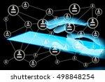 modern social media. concept of ... | Shutterstock . vector #498848254