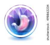 stomach sign  round shape...   Shutterstock .eps vector #498862234