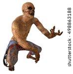 Zombie Monster 3d Illustration