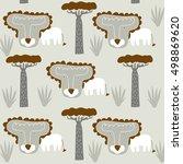 lion   Shutterstock .eps vector #498869620