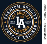 athletic sport typography  t... | Shutterstock .eps vector #498874000