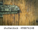 Metal Latch From An Aged Woode...