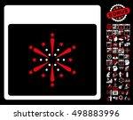 fireworks boom calendar page... | Shutterstock .eps vector #498883996