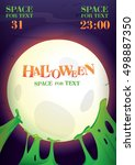 halloween night.poster for...   Shutterstock .eps vector #498887350