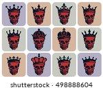 set of graphical illustrations... | Shutterstock .eps vector #498888604