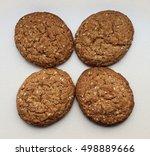 oatmeal cookies   Shutterstock . vector #498889666