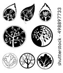 seasons  set of graphical... | Shutterstock . vector #498897733
