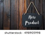 new product sign written in... | Shutterstock . vector #498905998