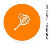 tennis icon | Shutterstock .eps vector #498906430
