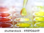 pipette with drop of liquid... | Shutterstock . vector #498906649