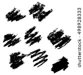 vector collection ink hand... | Shutterstock .eps vector #498928333