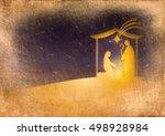 christmas nativity religious...   Shutterstock . vector #498928984
