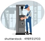 vector illustration of a... | Shutterstock .eps vector #498931933