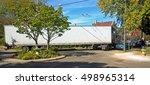 semi truck negotiating a tight...   Shutterstock . vector #498965314