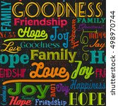 goodness pattern | Shutterstock .eps vector #498970744
