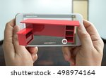 augmented reality marketing...   Shutterstock . vector #498974164