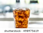 iced cola glass on the table | Shutterstock . vector #498975619