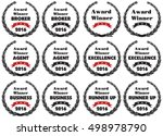 vector symbols for award winner ... | Shutterstock .eps vector #498978790