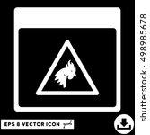 rooster danger calendar page... | Shutterstock .eps vector #498985678