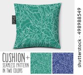 design vector pillow  cushion . ... | Shutterstock .eps vector #498988549