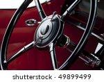 steering wheel on classic car...   Shutterstock . vector #49899499