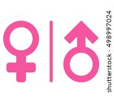 wc gender symbols icon. glyph... | Shutterstock . vector #498997024