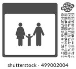 family calendar page pictograph ... | Shutterstock .eps vector #499002004