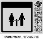 family calendar page icon with...   Shutterstock .eps vector #499009648