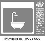 shower bath calendar page icon... | Shutterstock .eps vector #499013308