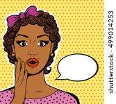 african american woman portrait ... | Shutterstock . vector #499014253