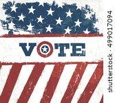 vote. american flag grunge... | Shutterstock .eps vector #499017094