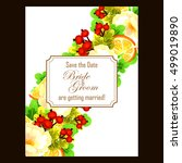 vintage delicate invitation... | Shutterstock .eps vector #499019890