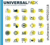 set of 25 universal editable... | Shutterstock .eps vector #499020118