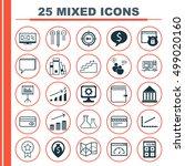 set of 25 universal editable... | Shutterstock .eps vector #499020160