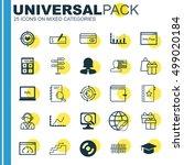 set of 25 universal editable... | Shutterstock .eps vector #499020184