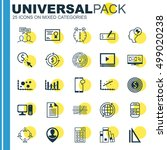 set of 25 universal editable... | Shutterstock .eps vector #499020238