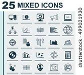 set of 25 universal editable... | Shutterstock .eps vector #499021930