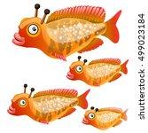 set of cartoon fish isolated on ...   Shutterstock .eps vector #499023184