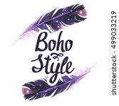 Illustration With Boho Chic...