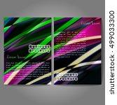 vector brochure template design ... | Shutterstock .eps vector #499033300