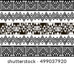 ethnic patterns of native... | Shutterstock .eps vector #499037920