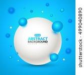 vector molecules with a blue... | Shutterstock .eps vector #499040890