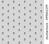 black and white rhombuses on... | Shutterstock .eps vector #499041199