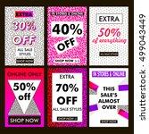 sale. social media banners for... | Shutterstock . vector #499043449