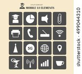 mobile ui elements  vector set...