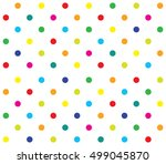 Vector Seamless Polka Dot Girl...