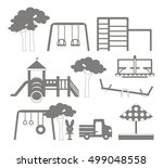 icons set of different... | Shutterstock .eps vector #499048558