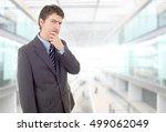 worried business man thinking ... | Shutterstock . vector #499062049